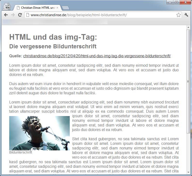 HTML und das img-Tag: Die vergessene Bildunterschrift