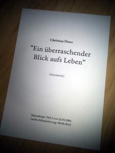 Manuskript - Arbeitstitel - Buch 3 - Christian Dinse
